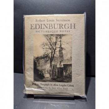 Edinburgh Picturesque Notes Book by Stevenson, R L