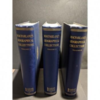 MacFarlane's Geographical Collections Volumes I, II and III Book