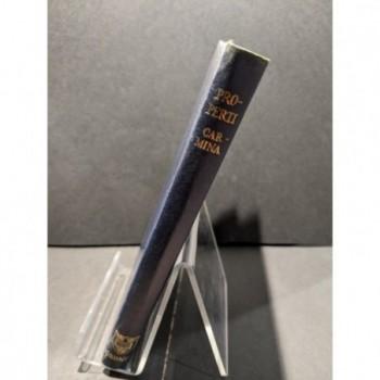 Sexti Properti Carmina Book by Barter, E A
