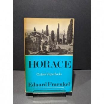 Horace Book by Fraenkel, Edvard