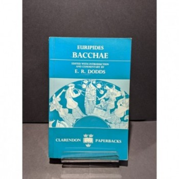Euripides Bacchae Book by Dodds, E R