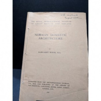 Norman Domestic Architecture Book by Wood, Margaret