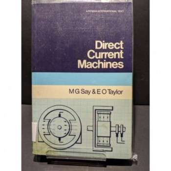 Direct Current Machines Book by Say & Taylor