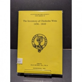 The Inventory of Chisholm Writs Book by Munro, Jean (ed)