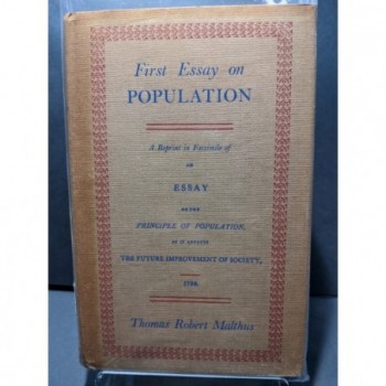 First Essay on Population Book by Malthus, Thomas Robert