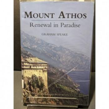 Mount Athos: Renewal in Paradise Book by Speake, Graham